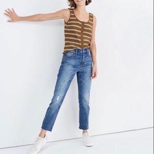 Madewell High Rise Slim Crop Boyfriend Jeans 27
